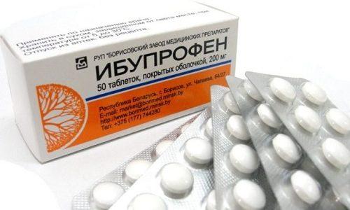 При сильном воспалении рекомендуют лекарства, содержащие парацетамол или ибупрофен