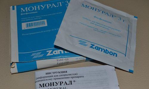 Самое популярное антибактериальное средство при цистите – Монурал