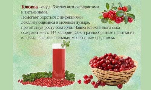 Во время болезни следует употреблять большое количество жидкости, при этом лучше будет пить не воду, а, например, отвары трав или морс из клюквы