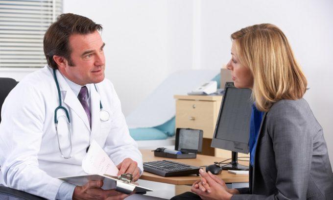 Посещение специалиста позволит в кротчайшие сроки выявить заболевание, диагностировать и начать лечение