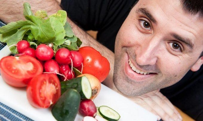 Необходимо разнообразить питание свежими овощами