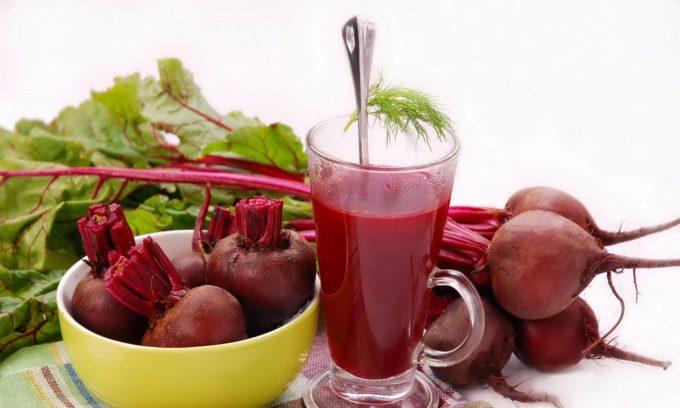 Выведению желчи способствует свекольный сок